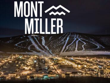 Les lumières déferlent sur le Mont Miller la nuit à Murdochville